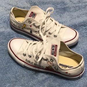 Converse Sneakers Snoopy & Friend Custom Painted
